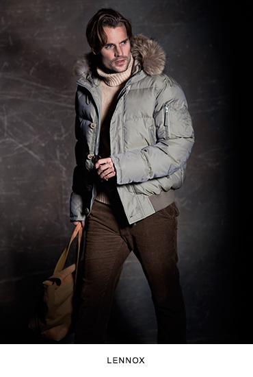 Lennox férfi bőrkabát